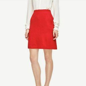 LOFT Red A- Line Pocket Skirt